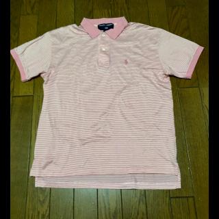 このコーデで使われているPOLO RALPH LAURENのポロシャツ[ピンク/ホワイト]