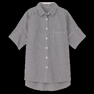 このコーデで使われているMUJI(無印良品)のシャツ/ブラウス[ブラック]