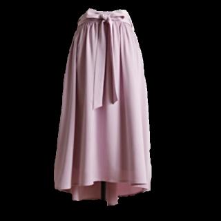 このコーデで使われているtoccoのミモレ丈スカート[ピンク/パープル]