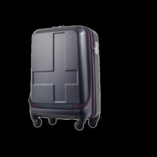 このコーデで使われているInnovatorのキャリーバッグ/スーツケース[ネイビー/レッド]