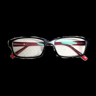 このコーデで使われているZoffのメガネ[ブラック/レッド]