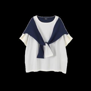 このコーデで使われているNe-netのTシャツ/カットソー[ホワイト/ネイビー]