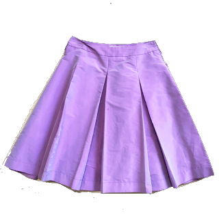 このコーデで使われているthe vigniaのフレアスカート[パープル/ピンク]