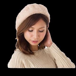 このコーデで使われているベレー帽[ベージュ]