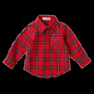 このコーデで使われているシャツ/ブラウス[レッド]