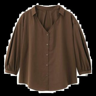 このコーデで使われているGUのシャツ/ブラウス[ブラウン]