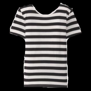 このコーデで使われているTシャツ/カットソー[ブラック/ホワイト]
