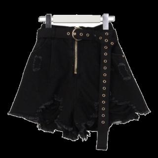 このコーデで使われているAnkRouge のミニスカート[ブラック]