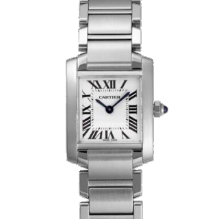 このコーデで使われているCartierの腕時計[ホワイト/シルバー]
