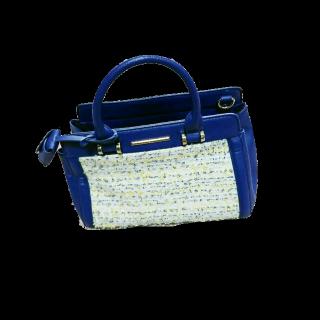 このコーデで使われているINDEXのハンドバッグ[ブルー/イエロー]
