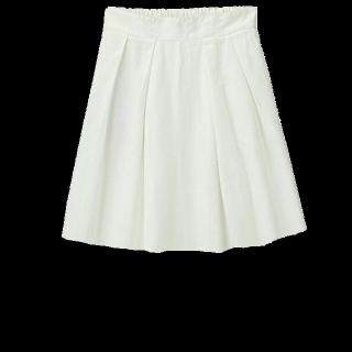 このコーデで使われているひざ丈スカート[ホワイト]