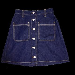 このコーデで使われているWEGOのデニムスカート[ブルー]