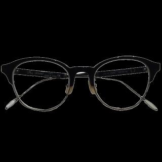 このコーデで使われているUSHのメガネ[ブラック]