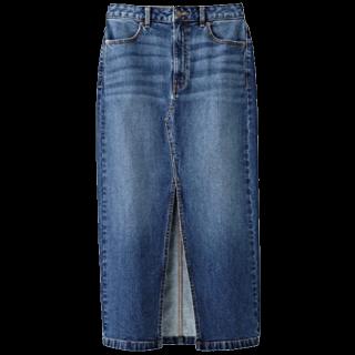 このコーデで使われているGUのタイトスカート[ブルー]
