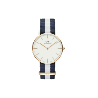 このコーデで使われているDaniel Wellingtonの腕時計[ホワイト/ネイビー/ゴールド]