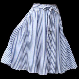 このコーデで使われているViSのミモレ丈スカート[ブルー/ホワイト]