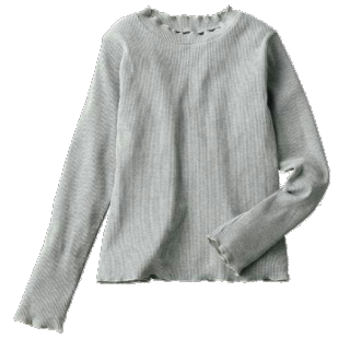 このコーデで使われているしまむらのTシャツ/カットソー[グレー]