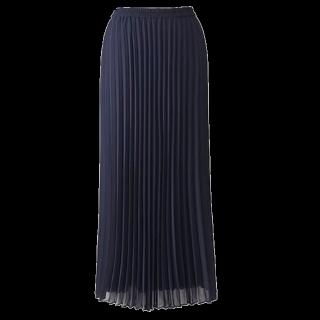 このコーデで使われているUNIQLOのプリーツスカート[ネイビー]