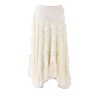 このコーデで使われているGRACE CONTINENTALのマキシ丈スカート[ホワイト]