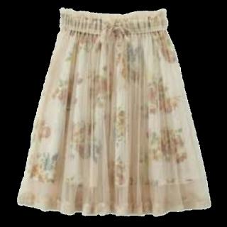 このコーデで使われているaxes femmeのひざ丈スカート[ベージュ]