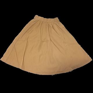 不明のフレアスカート