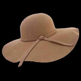 このコーデで使われている女優帽[キャメル]