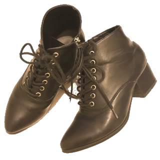 このコーデで使われているRe:EDITのブーツ[ブラック]