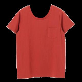 このコーデで使われているearth music&ecologyのTシャツ/カットソー[オレンジ]