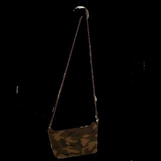 このコーデで使われている手作りのショルダーバッグ[ブラウン/キャメル/カーキ/ボルドー]
