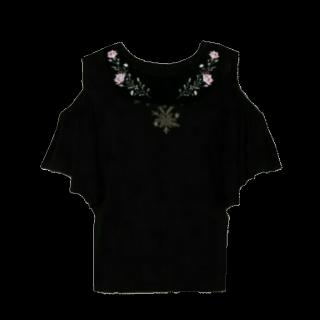このコーデで使われているしまむらのTシャツ/カットソー[ブラック/グレー/ピンク]