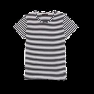 このコーデで使われているTシャツ/カットソー[ホワイト/ネイビー]