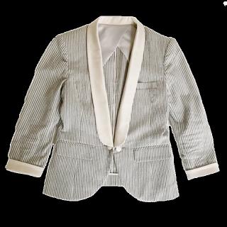 このコーデで使われているDOUBLE STANDARD CLOTHINGのジャケット[グレー/ベージュ]