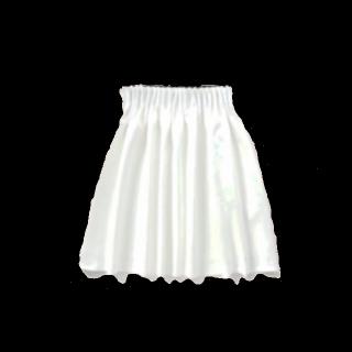 このコーデで使われているAndemiuのフレアスカート[ホワイト]