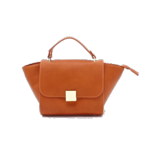 このコーデで使われているPLAIN CLOTHINGのハンドバッグ[オレンジ]