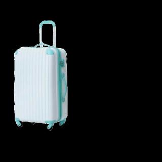 このコーデで使われているキャリーバッグ/スーツケース[ホワイト/ブルー]