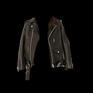 このコーデで使われているAMERICAN RAG CIEのレザージャケット[ブラック]