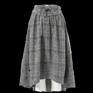 夢展望のひざ丈スカート