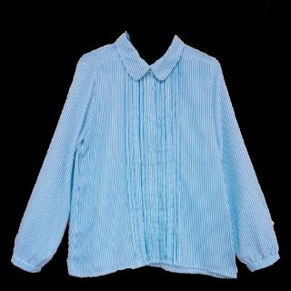 このコーデで使われているTHE EMPORIUMのシャツ/ブラウス[ブルー/ホワイト]