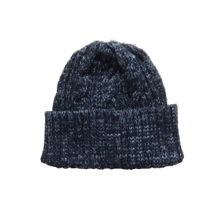 このコーデで使われているWEGOのニット帽[ブラック/グレー]