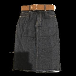 このコーデで使われているRETRO GIRLのデニムスカート[ブルー]