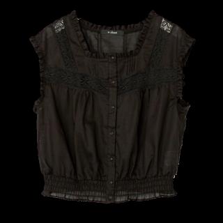 このコーデで使われているw closetのシャツ/ブラウス[ブラック]