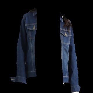 このコーデで使われているHONEYSのデニムジャケット[ネイビー]
