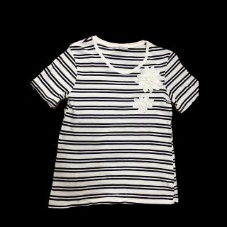このコーデで使われているZARAのTシャツ/カットソー[ブラック]