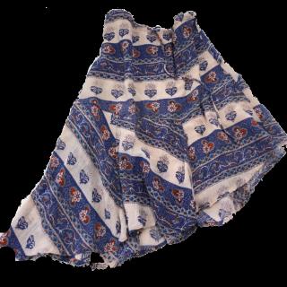 このコーデで使われているミモレ丈スカート[ブルー/ピンク/レッド]