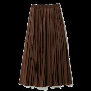 このコーデで使われているGRLのプリーツスカート[ブラウン]