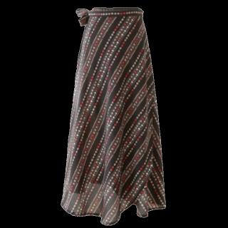 このコーデで使われているミモレ丈スカート[ブラック/ボルドー]
