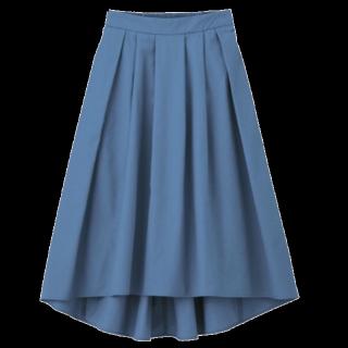 このコーデで使われているGUのフレアスカート[ブルー]