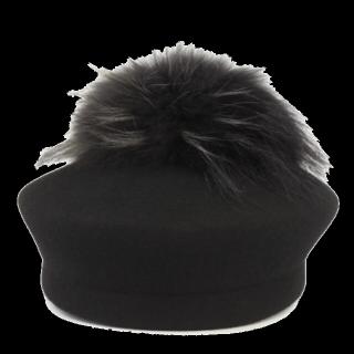 このコーデで使われているCA4LAのベレー帽[ブラック]