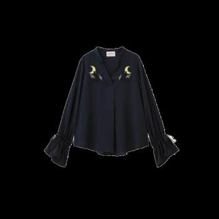 このコーデで使われているGUのシャツ/ブラウス[ネイビー/イエロー]