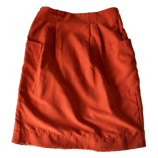 このコーデで使われているmysiticのタイトスカート[オレンジ]